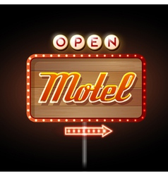 Neon sign motel vector