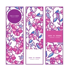 Vibrant field flowers vertical banners set pattern vector