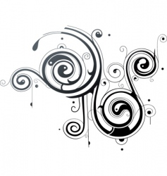 Tribal spirals vector