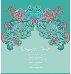 art for decoration card vector image