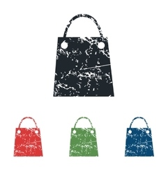 Shopping bag grunge icon set vector
