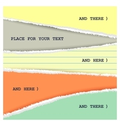 Torn colored page vector
