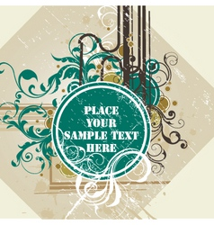 Grunge floral design vector