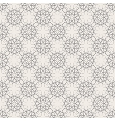 Round geometric linear seamless pattern vector