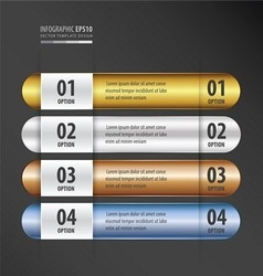 Rounded banner design gold bronze silver blue vector