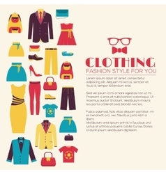 Fashion clothing infographics template concept vector