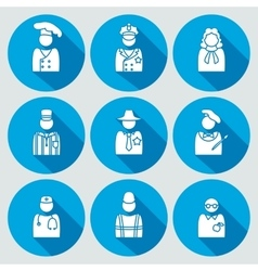 People profession icon set judge artist referee vector