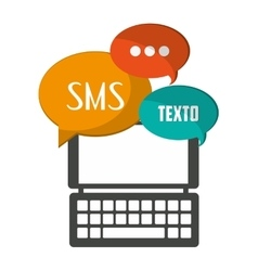 Sms and smartphone icon design vector