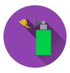 Icon of mosquito spray vector