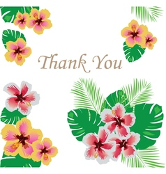 Floral thank you vector