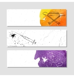 Banners for advertising professional accessories vector