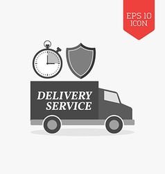 Delivery service concept icon flat design gray vector