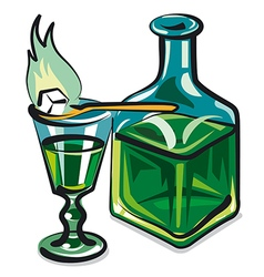 absinthe vector image