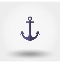 Anchor Flat icon vector image vector image