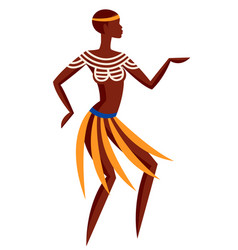 Australian aborigine woman dancing vector