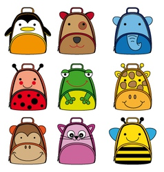 Backpacks for school children vector