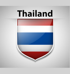 Badge design for flag of thailand vector