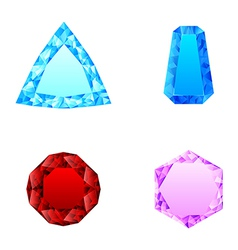 beautiful set of diamonds vector image vector image