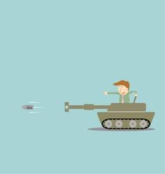 Business artillery fire bullet idea vector
