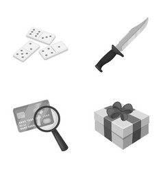 Casino finance and other monochrome icon in vector