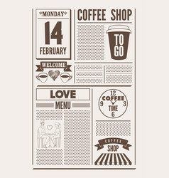 Coffee shop typographical vintage poster vector