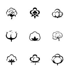 Cotton icon set vector