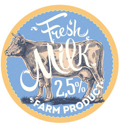 cow is label vector image vector image