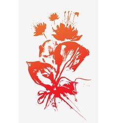 doodle flowers bouquet vector image vector image