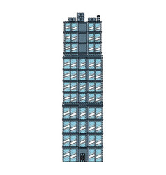 Drawing building real estate apartment image vector