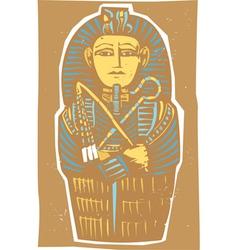 Egyptian sarcophagus color vector