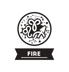 Flat icon in black and white style zodiacal vector