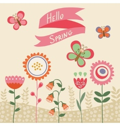 Floral card vector image vector image