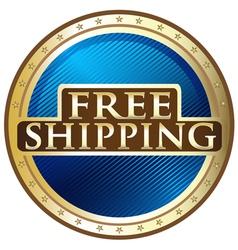 Free Shipping Emblem vector image vector image