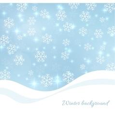 Gentle winter abstract background vector image
