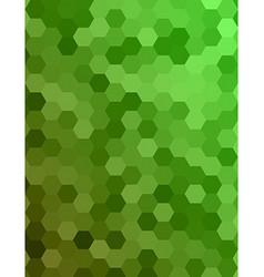 Green color hexagonal honey comb background vector