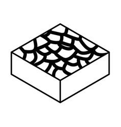 Infertile terrain isometric icon vector