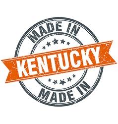 Kentucky orange grunge ribbon stamp on white vector