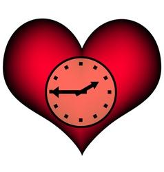 Lifetime red clock vector