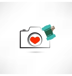 Love camera vector image vector image