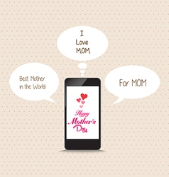 Message to mothers lovely frome cellphone vector