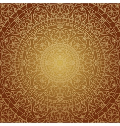 oriental brown decoration vector image vector image
