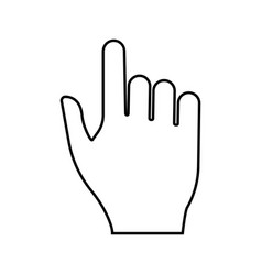 pointing hand black color icon vector image vector image