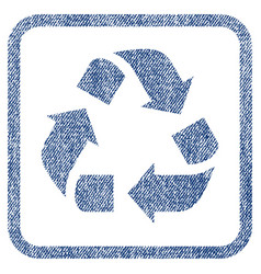recycle fabric textured icon vector image