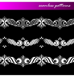 set of seamless ornamental lace patterns vector image
