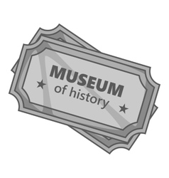 Sign museum of history icon gray monochrome style vector image