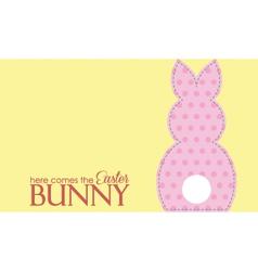 Single easter pink rabbit wording vector image vector image