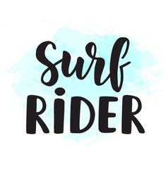Surf rider poster surfing theme vector