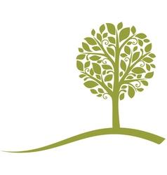 Tree emblem vector