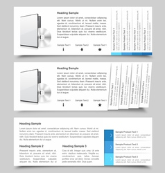 Web Slide Templates vector image vector image