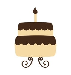 Cake delicious sweet icon vector